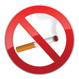 No smoking symbol. Sign prohibit cigarette smoking