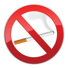 o smoking symbol. Sign prohibit cigarette smoking