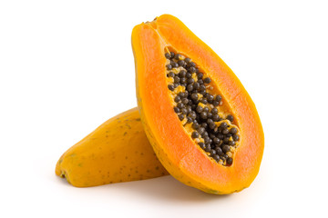 Halbierte Papaya