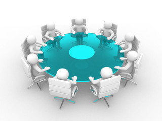 3d people - men, person at conference table