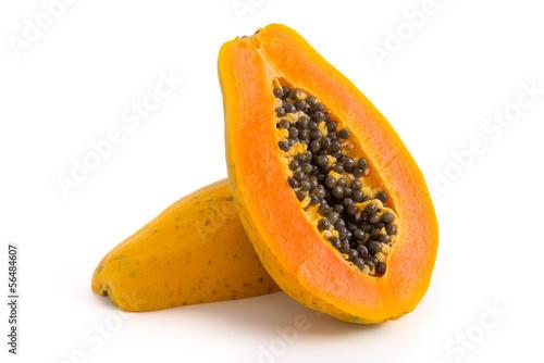 canvas print picture Halbierte Papaya