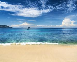 Beautiful tropical sea and blue sky