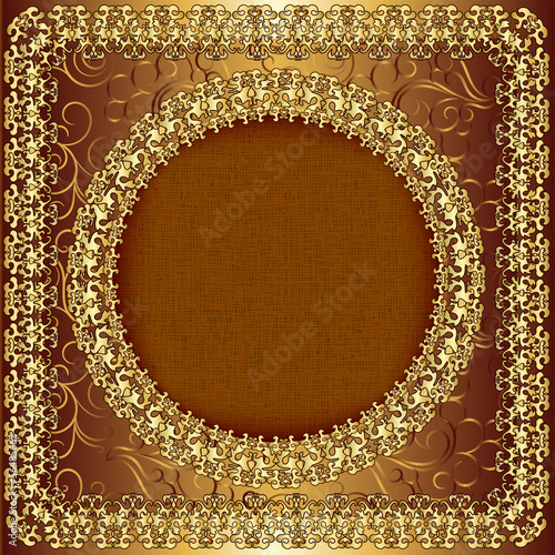 Luxury gold frame