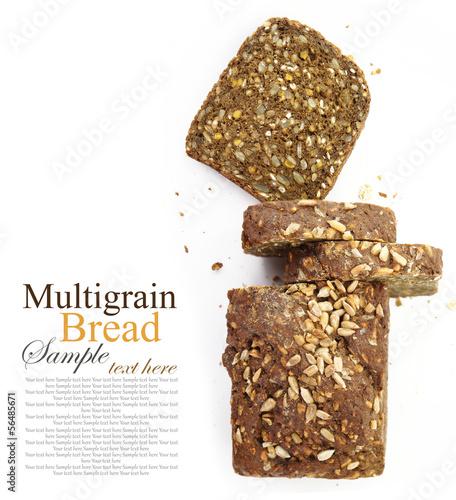 Fotobehang Brood Loaf of fresh sliced multigrain bread