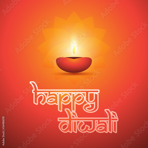 Happy Diwali Card - Vector Background Illustration