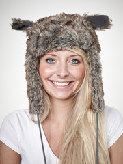 Nice lady with beaver-fur hat