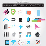 Minimalistic trendy icon set