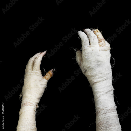 Two hand of mummy