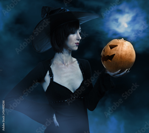 Witch in the Night Halloween