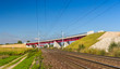 Overpass of new hi-speed railway LGV Est near Strasbourg