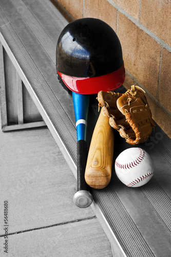 Baseball Metal Bench Dugout Gear
