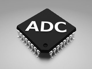 (ADC, or A-to-D) analog to digital converter