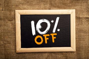 Ten percent off