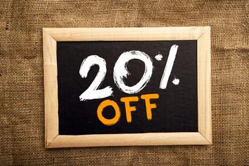 Twenty percent off