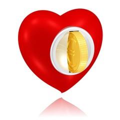 käufliches Herz oder Geldspende
