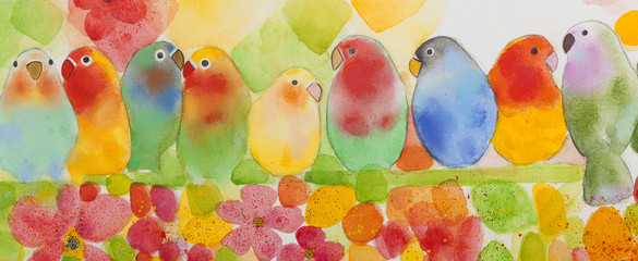 Lovebirds paint.