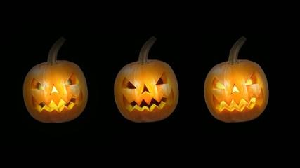 flackernde Halloween-Kürbisse