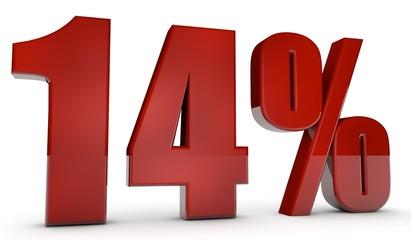 percent,14