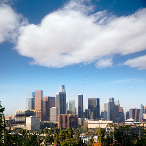 Downtown LA Los Angeles skyline California