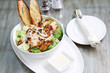 chicken caesar salad with cheese