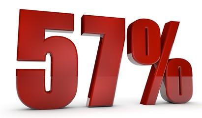 percent,57