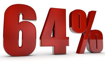 percent,64