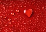 Herz aus Wassertropfen