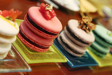 flavored assorted french macarons
