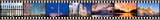 Film strip of Washington DC sights