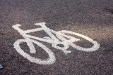 Bicycle lane road marking