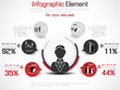 INFOGRAPHIC MODERN PEOPLE BUSINESS NEW STYLE  RED