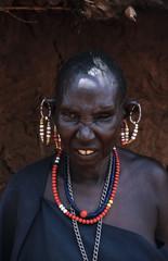 Kenya, Tsavo East National Park, Masai old woman