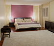 Bedroom modern interior design with furnishings