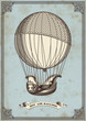 vintage card with hot air balloon - 56494212