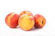 Four Peaches on White