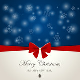 Merry Christmas Happy New Year design greeting card template