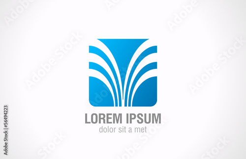 Logo Square business technology abstract design