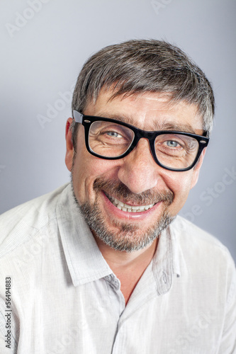 Happy man portrait