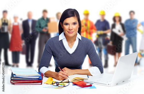 Business Woman working with laptop.