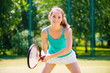 Portrait of a young tennis player