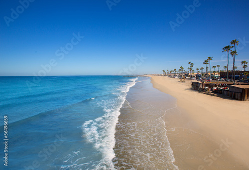 Fotobehang Los Angeles Newport beach in California with palm trees