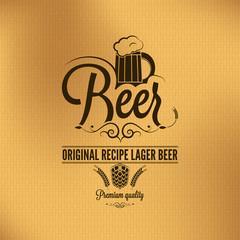 beer lager vintage background