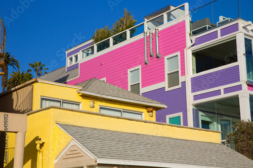 Papiers peints Los Angeles Santa Monica California beach colorful houses