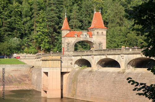 Leinwanddruck Bild Dam Les Kralovstvi in Bila Tremesna, Czech Republic