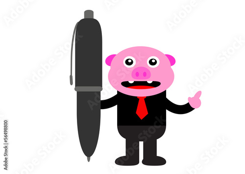 piggy in business activity