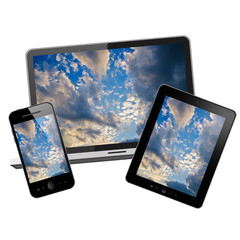 Notebook,tablet pc and mobile phone