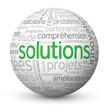 """Globe - Nuage de Tags """"SOLUTIONS"""" (idées réponses innovation)"""