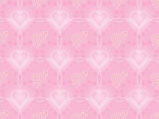 Day of Valentine pink seamless pattern