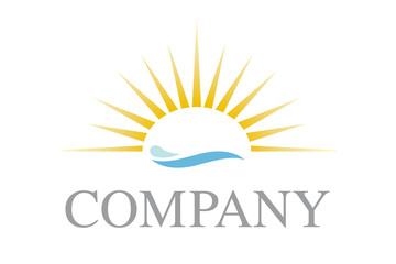 Sun and waves company logo