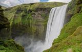 Skogafoss waterfall poster